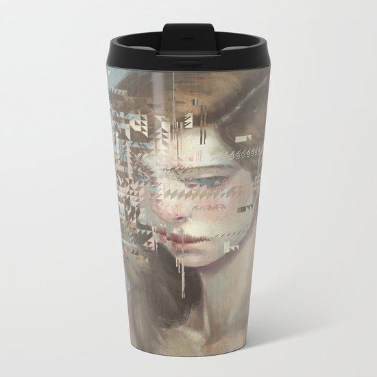 Glitch 03 Metal Travel Mug