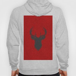 Antiallergenic Hand Knitted Deer Winter Wool Texture - Mix & Match with Simplicty of life Hoody