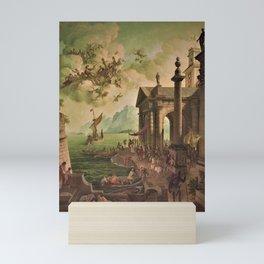 Ulysses Farewell to Penelope Seaport Landscape by Rex Whistler Mini Art Print