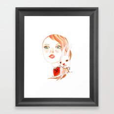 Real Beauty is without Cruelty Framed Art Print