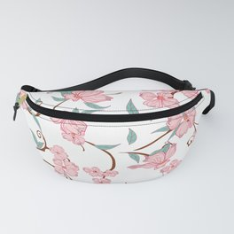 Creepy Flowers Pattern Fanny Pack