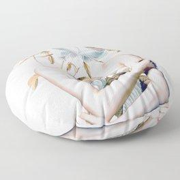 Inner beauty-collage 2 Floor Pillow