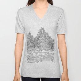 Graphic Line mountain Unisex V-Neck