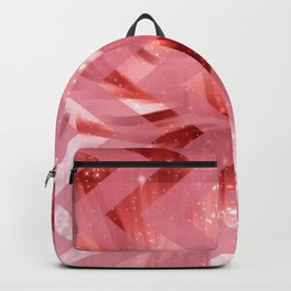 striped wavy pink glittered abstract digital pattern Backpack