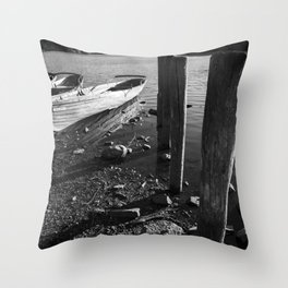 rowing boats on derwentwater Throw Pillow