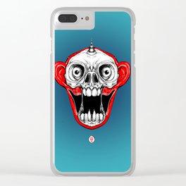 Unicorn Monkey Skull Clear iPhone Case