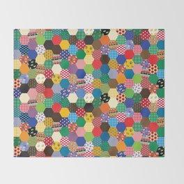 Hexagonal Patchwork Throw Blanket