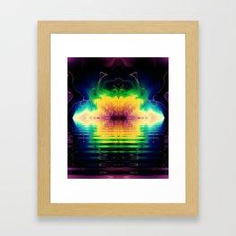 Fractal Rainbows Framed Art Print
