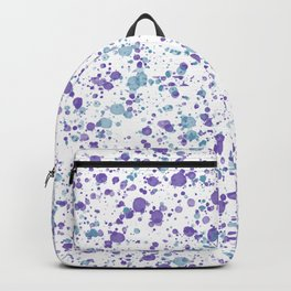 Watercolor Ultra Violet Splattering Dog Lovers Backpack