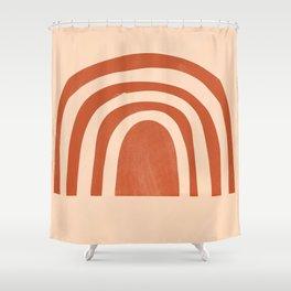 bronze rainbow Shower Curtain