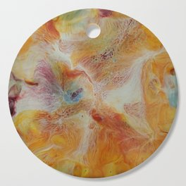 Abstract Iris by Michelle R. Acker Cutting Board