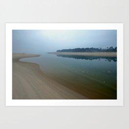 Misty Sunrise, Raven Point, Wexford, Ireland Art Print