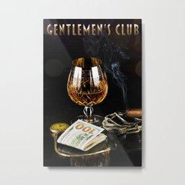Gentlemen's Club Metal Print