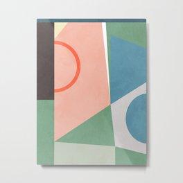 geometric shapes abstract art Metal Print