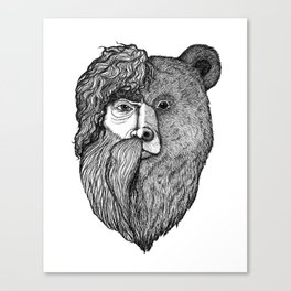 Wild Bear-Man Canvas Print