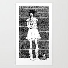 Two's a pair Art Print