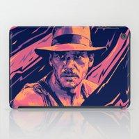 indiana jones iPad Cases featuring indiana jones// bad actors v2 by mergedvisible