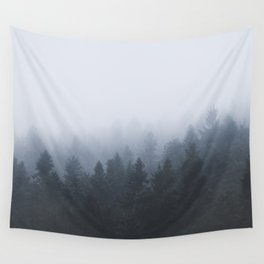 Mysterious forest in the fog Wall Tapestry
