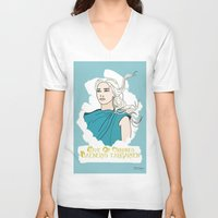 daenerys V-neck T-shirts featuring Danny by JessicaJaneIllustration