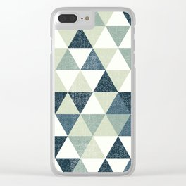 Triangles Pattern Clear iPhone Case