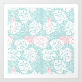 Pastel Monstera Art Print