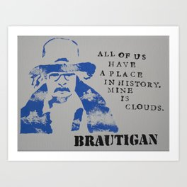 Richard Brautigan Quote Painting Art Print