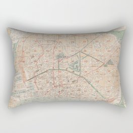 Vintage Map of Antwerp Belgium (1877) Rectangular Pillow