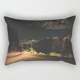 Mountain Road at Night Rectangular Pillow