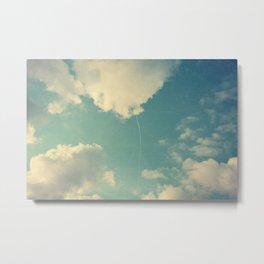 That Cloud Looks Like a Big White Balloon on a String Metal Print