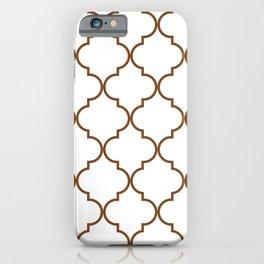 Quatrefoil - Tawny Brown iPhone Case