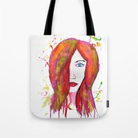 valentina Tote Bags featuring Valentina by Laurie Art Gallery