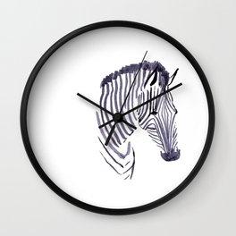 Zebra face Wall Clock