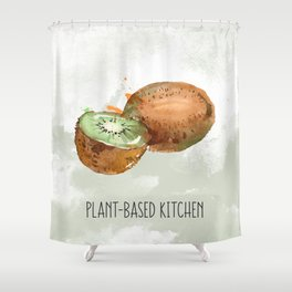 Plant-Based Kitchen Kiwi Shower Curtain