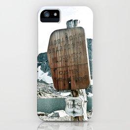 Absaroka Beartooth Wilderness iPhone Case