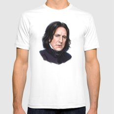 Sad Snape Mens Fitted Tee White MEDIUM