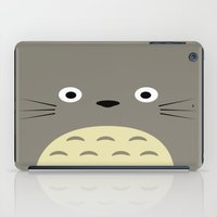 studio ghibli iPad Cases featuring Fuzzy Grey Studio Ghibli by Yamilett Pimentel