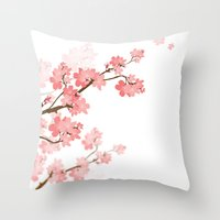 cherry Throw Pillows featuring Cherry by Ale Ibanez