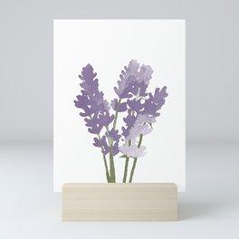 Watercolor Lavender Mini Art Print