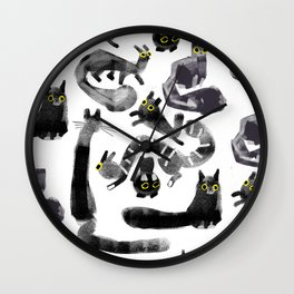 Cats on Cats Wall Clock