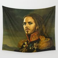 tim burton Wall Tapestries featuring Tim Minchin - replaceface by replaceface