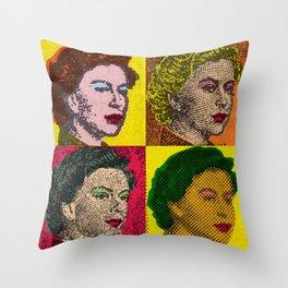 Pop Art Queens by Dennis Weber of ShreddyStudio Throw Pillow