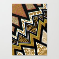 Intense Zig-zagging Canvas Print