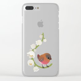Brown-capped rosy finch Clear iPhone Case