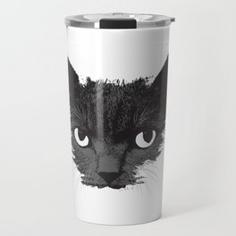 Black Cat Face Graphic Design Cat Lovers Gift Halloween product Travel Mug