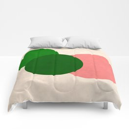 Living Coral Green Vintage Mod Circles Comforters