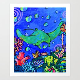 Mr. Ray Art Print