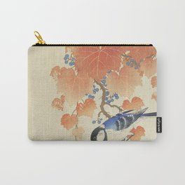 Bird on Paulownia Branch Carry-All Pouch