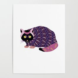 Abstract Black Cat Poster