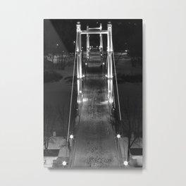 Night Europe-Asia Bridge Metal Print