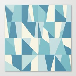 Geometric Blue Pattern Canvas Print